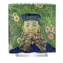 Portrait Of The Postman Joseph Roulin Shower Curtain by Vincent Van Gogh