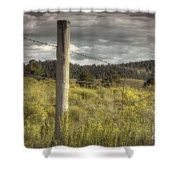 Prairie Fence Shower Curtain