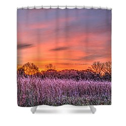 Illinois Prairie Moments Before Sunrise Shower Curtain