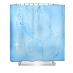 Praying Hands  Shower Curtain