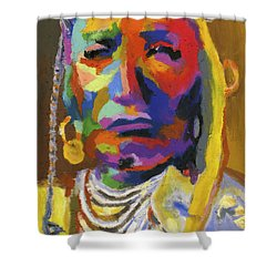 Proud Native American II Shower Curtain by Stephen Anderson