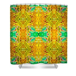 Shower Curtain featuring the photograph Psychedelic Diamond by  Onyonet  Photo Studios