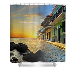Puerto Rico Collage 4 Shower Curtain by Stephen Anderson