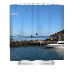 Quiet Bay Shower Curtain by Sergey Lukashin