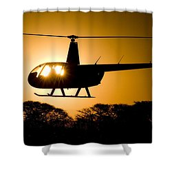 Shower Curtain featuring the photograph R44 Sunset by Paul Job