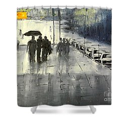 Rainy City Street Shower Curtain