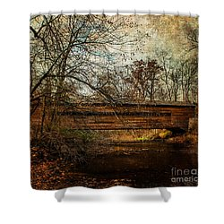 Rapps Dam Covered Bridge Shower Curtain