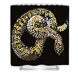 Rattlesnake Bedazzled Shower Curtain