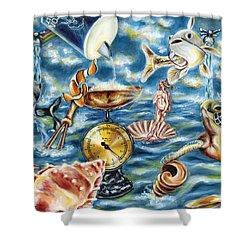 Shower Curtain featuring the painting Recipe Of Ocean by Hiroko Sakai