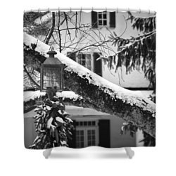 Holiday Candle Light Shower Curtain