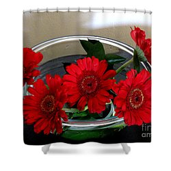 Red Flowers. Special Shower Curtain