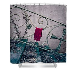 Red Glove Shower Curtain by Joana Kruse