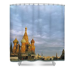 Red Square Moscow Russia Shower Curtain
