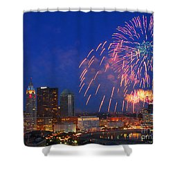 Red White And Boom Photo Shower Curtain
