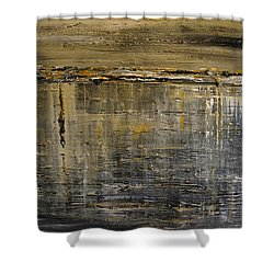 Shower Curtain featuring the painting Reflection Series by Dolores  Deal