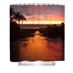Sunset After Rain Shower Curtain by Denise Bird