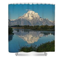 Reflections Of Mount Moran Shower Curtain