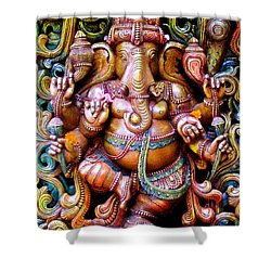 Remover Of Obstacles Shower Curtain