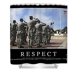 Respect Inspirational Quote Shower Curtain by Stocktrek Images