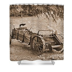 Retired But Ready Shower Curtain