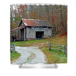 Richland Creek Farm Barn Shower Curtain