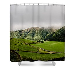 Road Over Valley Shower Curtain