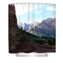 Road Through Zion National Park Shower Curtain