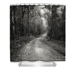 Road Way In Deep Forest Shower Curtain by Setsiri Silapasuwanchai