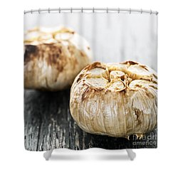 Roasted Garlic Bulbs Shower Curtain by Elena Elisseeva