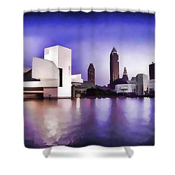 Shower Curtain featuring the photograph Rock And Roll Hall Of Fame - Cleveland Ohio - 3 by Mark Madere