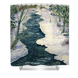 Rock Creek Winter Shower Curtain