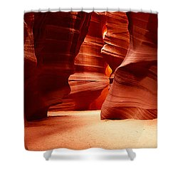 Rock Formations, Antelope Canyon, Lake Shower Curtain