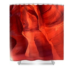 Rock Formations In A Canyon, Antelope Shower Curtain by Panoramic Images