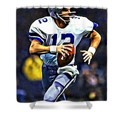 Roger Staubach Shower Curtain