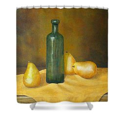 Roman Table Shower Curtain by Pamela Allegretto