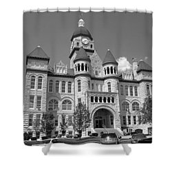 Route 66 - Jasper County Courthouse Shower Curtain by Frank Romeo