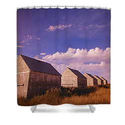 Row Of Old Farm Houses Shower Curtain by Kelly Redinger