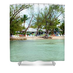 Rum Point Shower Curtain