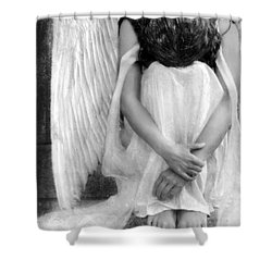 Sad Angel Woman Shower Curtain