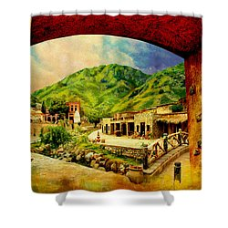 Saidpur Village Shower Curtain by Catf