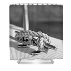 Sailor's Knot Square Shower Curtain by Laura Fasulo