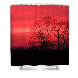 Shower Curtain featuring the photograph Sailor's Warning II by Carlee Ojeda