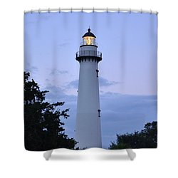 Saint Simons Lighthouse Shower Curtain by Bob Sample