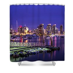 San Diego Harbor Shower Curtain by Joseph S Giacalone