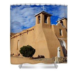 San Francisco De Asis Taos New Mexico 3 Shower Curtain by Bob Christopher