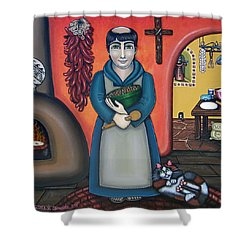 San Pascuals Kitchen Shower Curtain