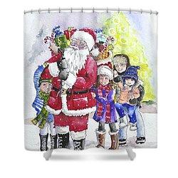 Santa And Children Shower Curtain