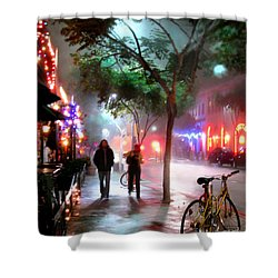 Santa Monica Secrets Shower Curtain by Jennie Breeze