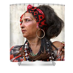 Shower Curtain featuring the photograph Santeria Woman by PJ Boylan