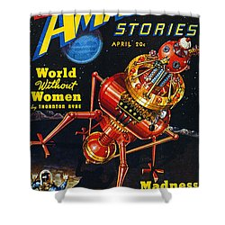 Science Fiction Cover 1939 Shower Curtain by Granger